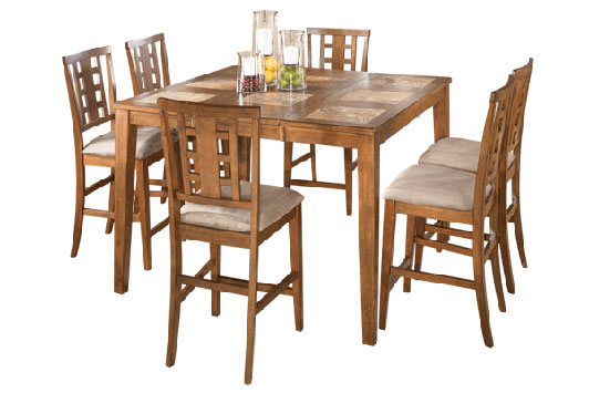Tucker Counter Height Extension Table With Four Barstools