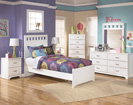 Lulu Panel Bed with footboard-Dresser-Mirror-Night Std