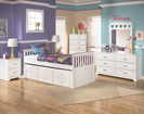 Lulu Twin Trundle Drawer Bed-Dresser-Mirror-Night Std