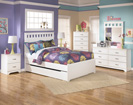 Lulu Full Panel Trundle Storage Bed-Dresser-Mirror-Night Std