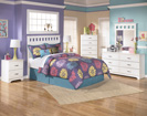 Lulu Full Panel Bed-Dresser-Mirror-Night Std