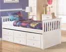 Lulu Twin Trundle Drawer Bed