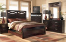 X-cess -  King Panel Bed-Dresser-Mirror-Night Std