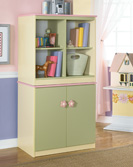 Doll House Loft Bin-Door Storage Combo