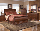 Wilmington King Sleigh-Dresser-Mirror-Night Std (as shown in queen)