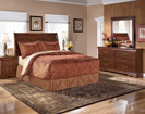 Wilmington King Panel Bed-Dresser-Mirror-Night Stand (as shown in Queen)