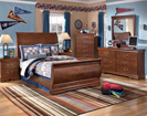 Wilmington Full Sleigh Bed-Dresser-Mirror-Night Std (as shown with optional media chest)